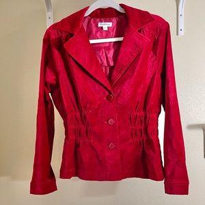 Joan Rivers Velvet Gather Waist Jacket Blazer Sz M